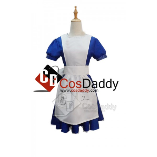 Alice Madness Returns Alice Maid Uniform Dress Cos...