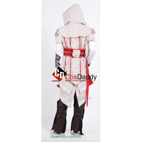 Assassin's Creed 2 II Ezio Outfit Cosplay Costume White