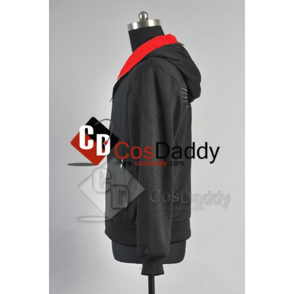 Assassin's Creed Desmond Miles Hoodie Cosplay Costume (Black)