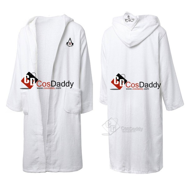 Assassin's Creed White Bathrobes Cosplay Costume
