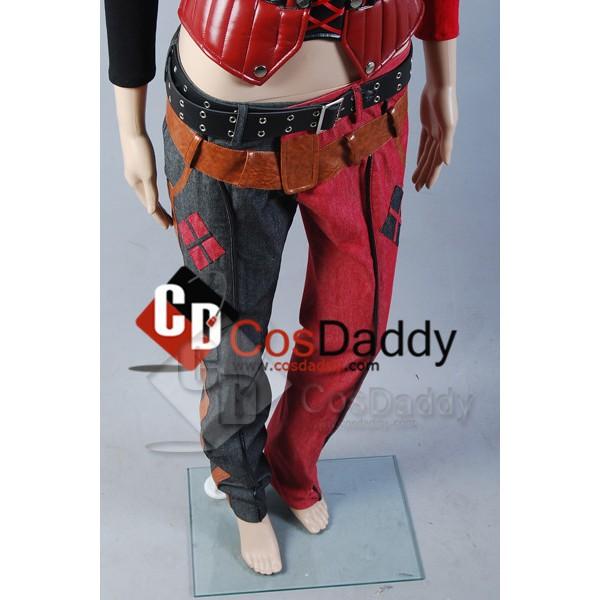 Batman Arkham Asylum City Harley Quinn Cosplay Costume