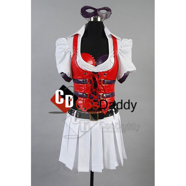 Batman:Arkham Asylum Harley Quinn Dress Cosplay Costume