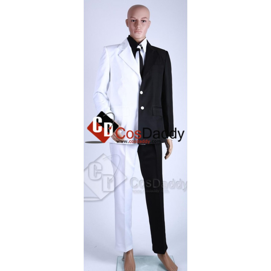Costume Two Face Man Suit Two-Face Uniform White Black Outfits TailorMade