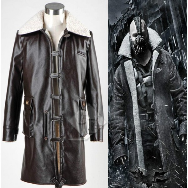 Batman:The Dark Knight Rises Bane Coat Jacket Cosplay Costume Version 1