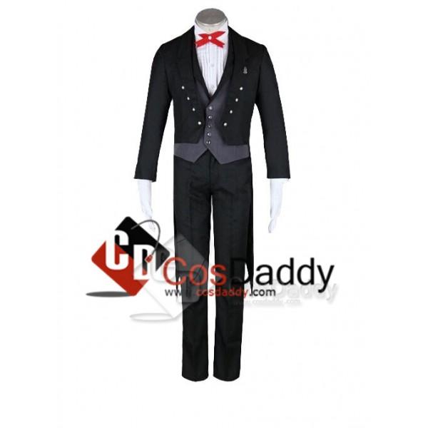 Black Butler II 2 Kuroshitsuji Sebastian Suit Set Cosplay Costume