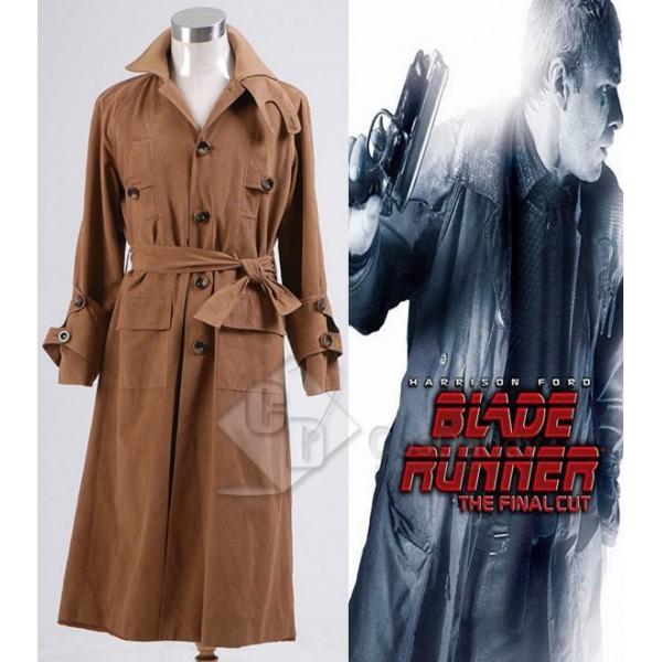 Blade Runner Rick Deckard Trench Coat Cosplay Costume