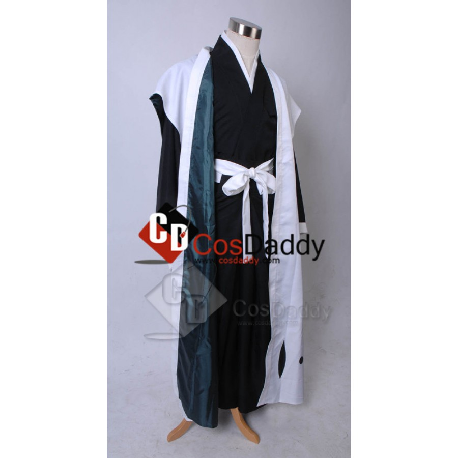 Bleach 10th Division Captain Toushiro Hitsugaya Death Kimono Cosplay Costume