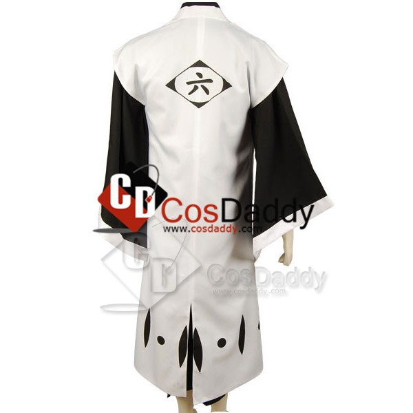 Bleach 6th Division Captain Kuchiki Byakuya Cosplay Costume
