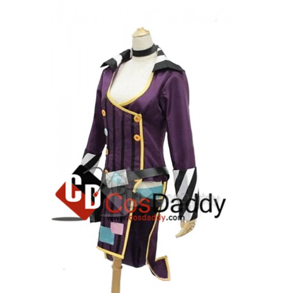 Borderlands 2 Mad Moxxi Purple Outfit Unifrom Hat Set Cosplay Costume