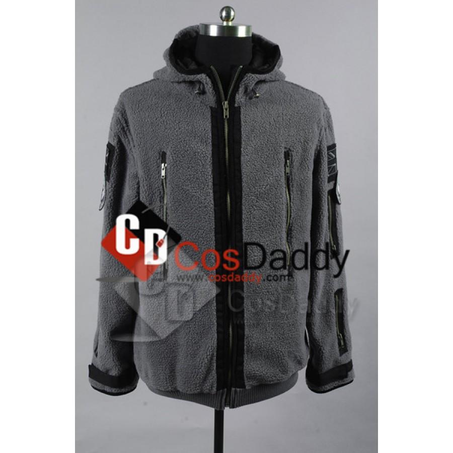 CALL OF DUTY MODERN WARFARE2 Cosplay Task Force 141Ghost Zip up Jacket Hoody Cos