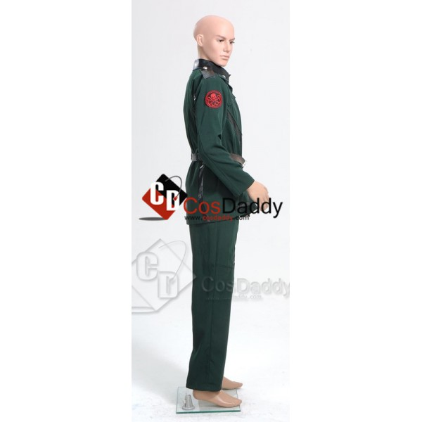 Captain America Red Skull Pants Dark Green Uniform Cosplay Costume