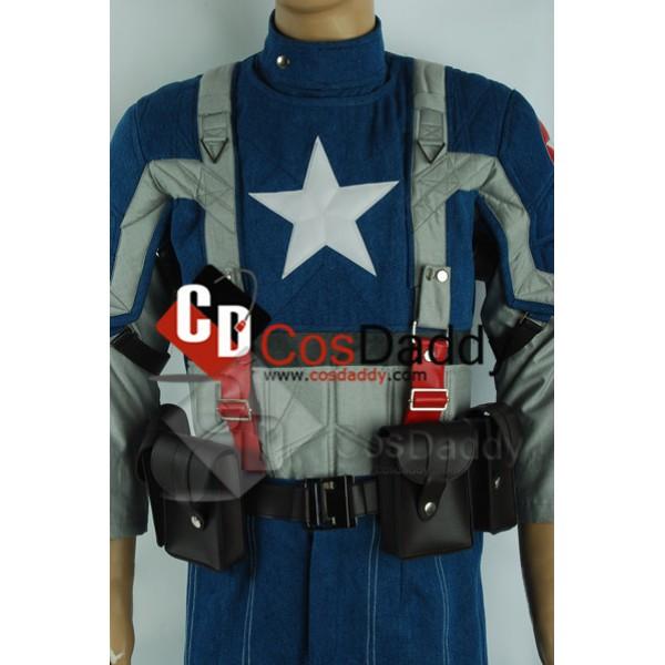 Captain America: The First Avenger Steve Rogers Movie Cosplay Costume