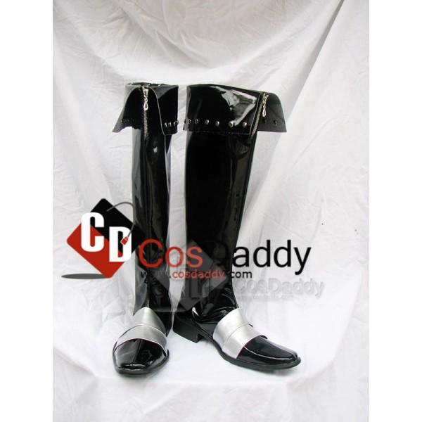 Castlevania Leon Black Cosplay Boots Custom Made
