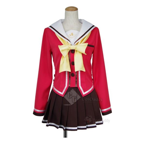 Charlotte Nao Tomori Red School Uniform Cosplay Co...