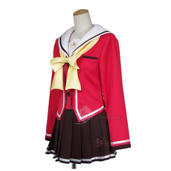 Charlotte Nao Tomori Red School Uniform Cosplay Costume