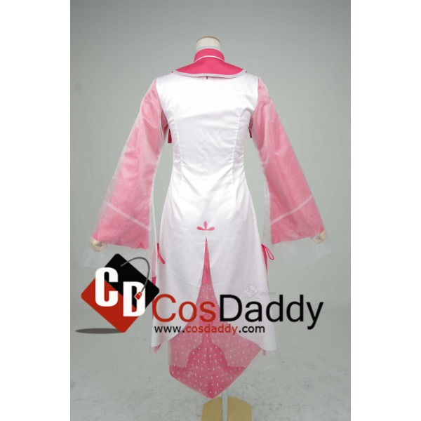 Chinese Game JX Online III White Red Dress Cosplay Costume