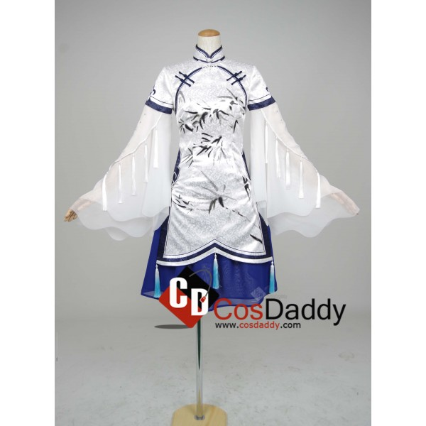 Chinese Game JX Online III White Blue Dress Cospla...