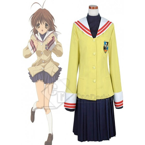Clannad Cosplay Costume School Girl Uniform Winter Version Cosplay Costume