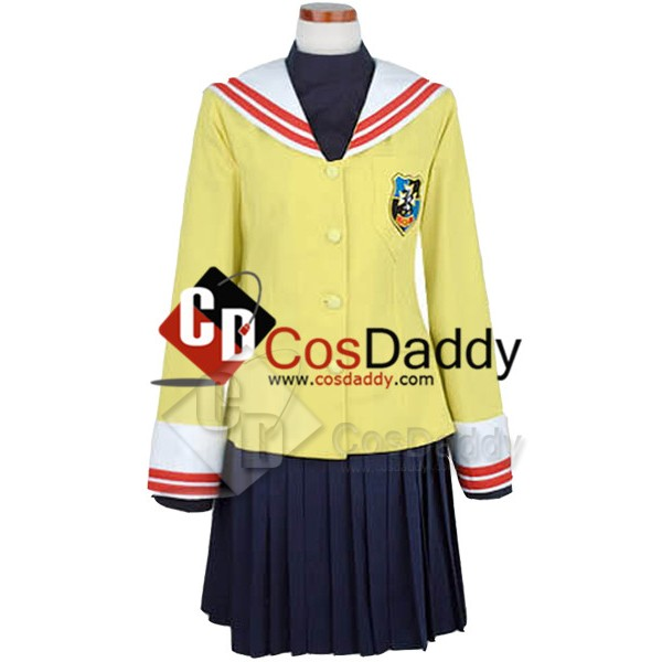 Clannad Cosplay Costume School Girl Uniform Winter...