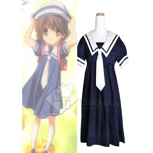 Clannad Okazaki Ushio School Girl Cosplay Costume