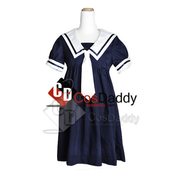 Clannad Okazaki Ushio School Girl Cosplay Costume