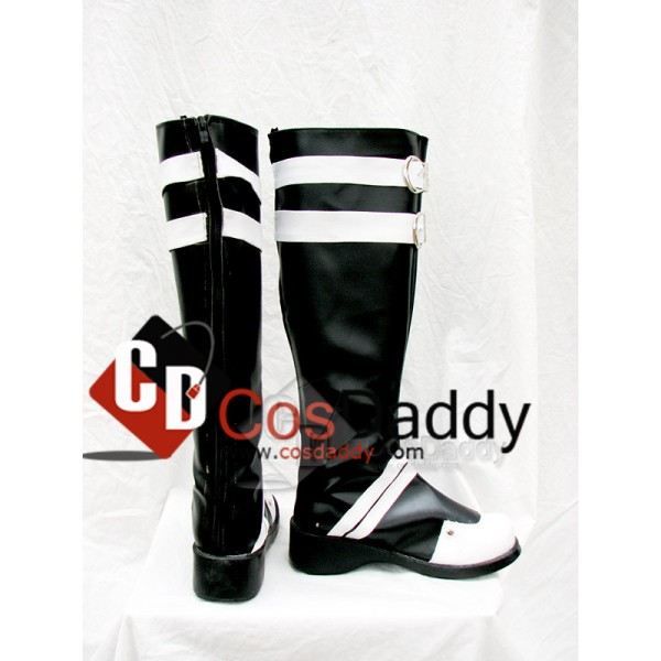 D.Gray-man Classical Cosplay White and Black Boots Shoes