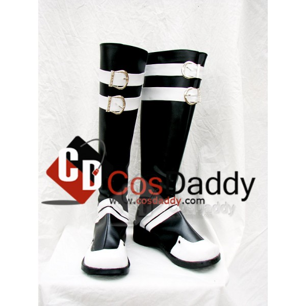 D.Gray-man Classical Cosplay White and Black Boots...