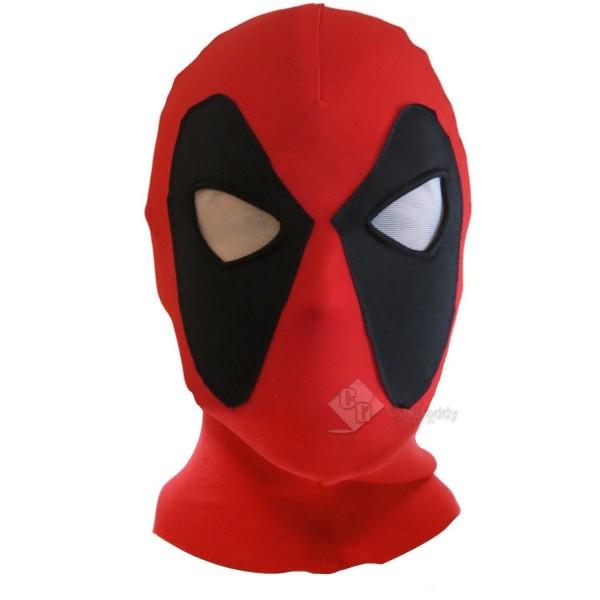 Deadpool Cosplay Costume Headwear Adult Size Halloween Mask Red