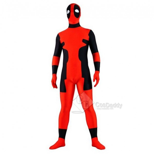 Deadpool Lycra Spandex Zipper Full Body Zentaisuit Costume