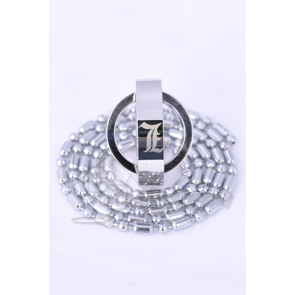 Death Note L Double-Ring Pendant Necklace