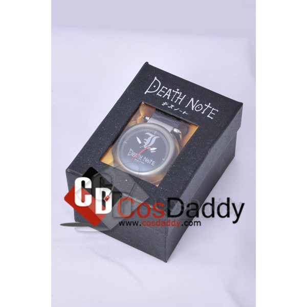 Death Note L Logo Pocket Watch