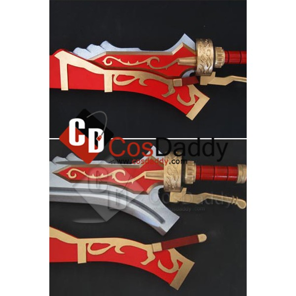 Devil May Cry 4 DMC4 Nero Red Queen Cosplay Sword