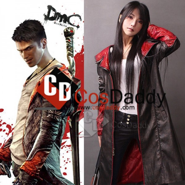 Devil May Cry 5 Dante Pleather Coat Jacket Cosplay...