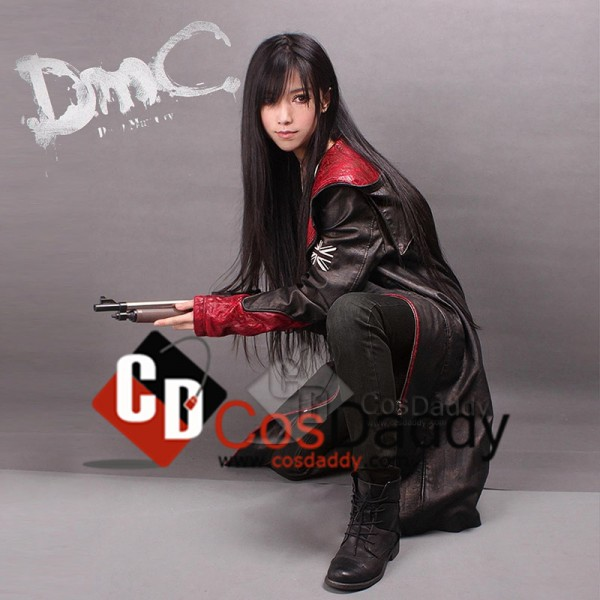 Devil May Cry 5 Dante Pleather Coat Jacket Cosplay Costume