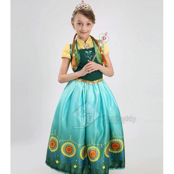Disney Frozen Fever Cinderella New Anna Little Gir...