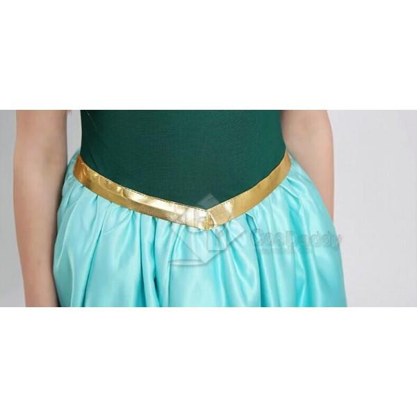 Disney Frozen Fever Cinderella New Anna Little Girl Dress Cosplay Costume
