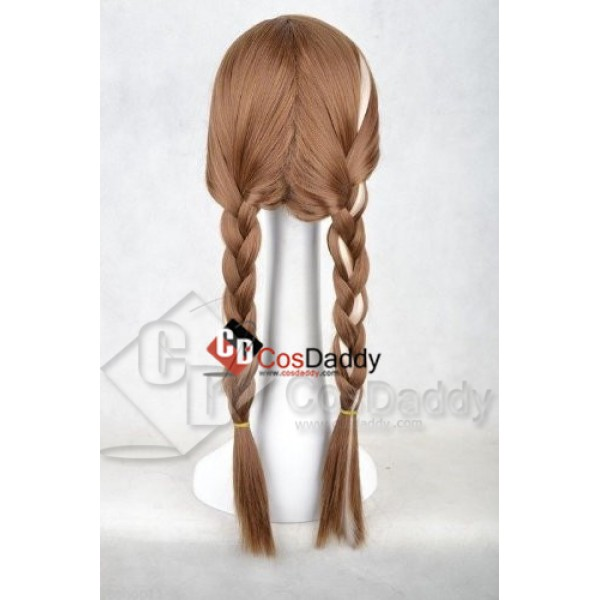 Disney Princess Frozen Snow Queen Anna Brown Weave Wig