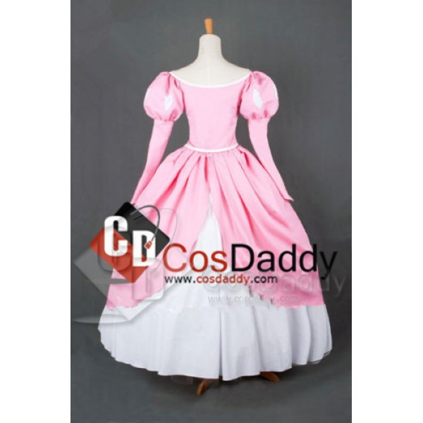 The Little Mermaid Disney Princess Mermaid Princess Ariel Pink Lovely Dress Cosplay Costume