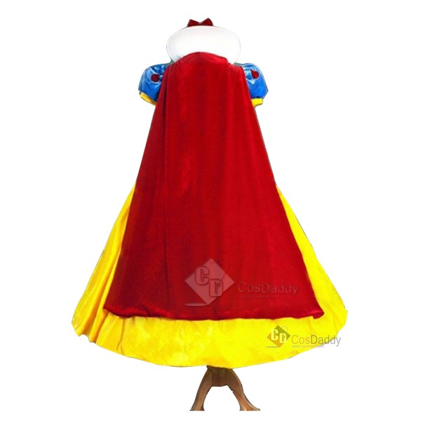 Disney Snow White Princess Dress Stage Show Party Cosplay Costume