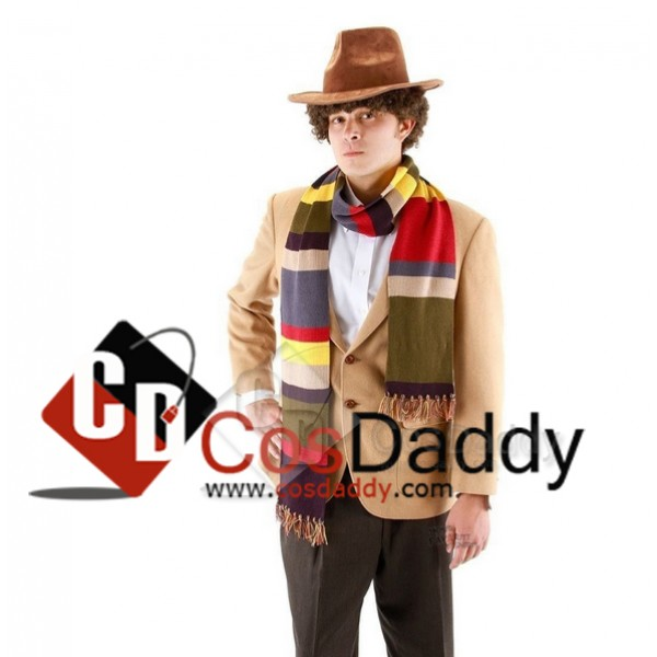 Doctor Who Fourth 4th Doctor  Tom Baker Striped Sc...