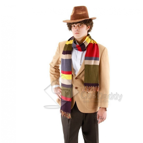 Doctor Who Fourth 4th Doctor  Tom Baker Striped Scarf
