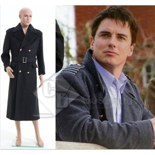 Doctor Who Torchwood Captain Jack Harkness Black Trench Coat Cosplay Costume