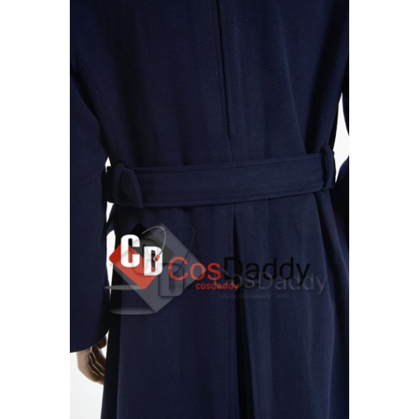 Doctor Who Torchwood Captain Jack Harkness Dark Blue Trench Coat Cosplay Costume