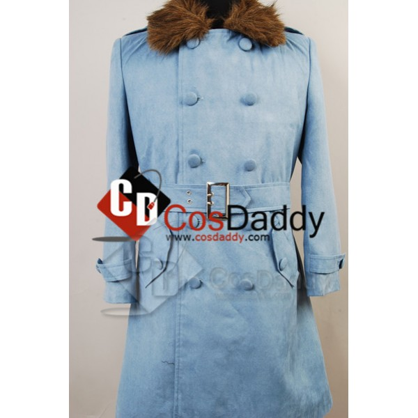 Dragon Ball Z Time Patrol Trunks Navy Blue Trench Coat Cosplay Costume