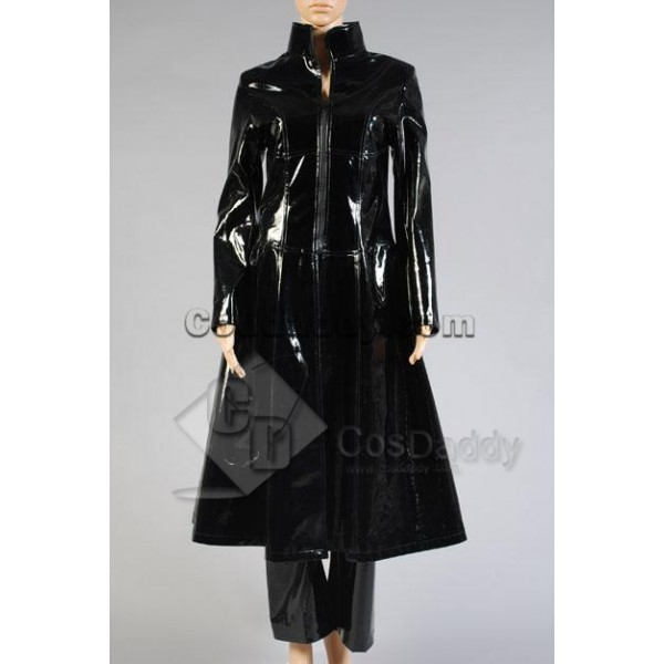 The Matrix Trinity PU Pleather Overcoat Pants Cosp...