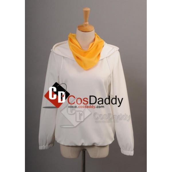 Durarara Kida Masaomi White Hoodie Cosplay Costume