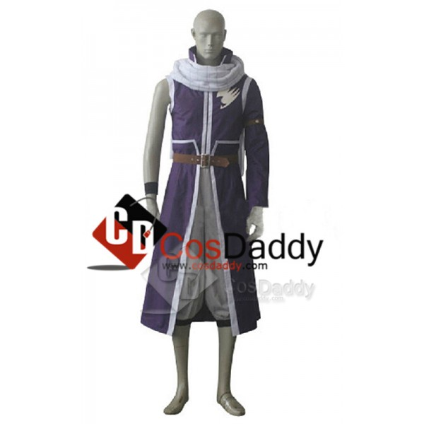 Fairy Tail Natsu Dragneel Purple Party Cosplay Cos...