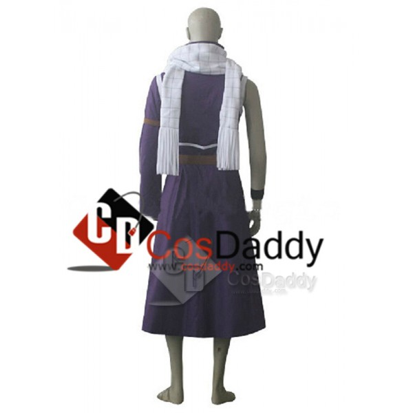 Fairy Tail Natsu Dragneel Purple Party Cosplay Costume