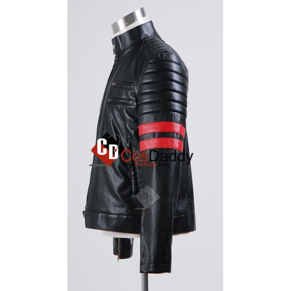 Fight Club Tyler Durden Black and Red Jacket Cosplay Costume