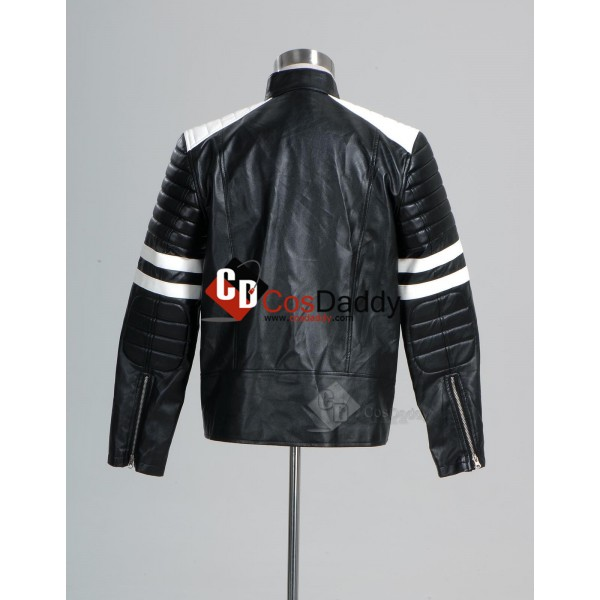 Fight Club Tyler Durden Black and White Jacket Cosplay Costume